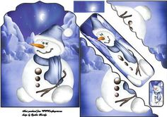 Christmas snowman on Craftsuprint designed by Cynthia Berridge - Christmas snowman - Now available for download!