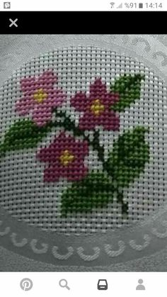 Cross Stitch Rose, Cross Stitch Flowers, Cross Stitch Embroidery, Cross Stitch Designs, Cross Stitch Patterns, Floral Embroidery, Hand Embroidery, Baby Knitting Patterns, Crochet Patterns