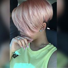 This color is beautiful on this cut jalyssamonetmua mua pinkhair shorthair haircut voiceofhair ✂️========================== Go to VoiceOfHair.com ========================= Find hairstyles and hair tips! =========================