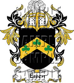 Essen Family Crest apparel, Essen Coat of Arms gifts