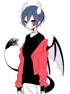 #anime boy, guy, devil