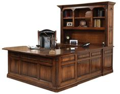 Amish Lexington U-Shaped Desk with Optional Hutch Top I can just see this great desk in my future office!