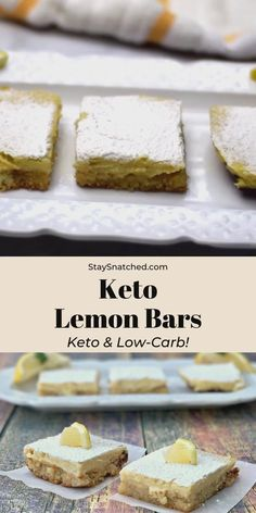 Low Carb Desserts, Low Carb Recipes, Lemon Dessert Recipes, Lemon Bars, Dessert Bars, Cake, Treats, Almond Flour, Sugar Free