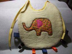 Large baby bib terry cloth bib Elephant baby bib by PeaPodLilFrogs, $6.00  #PeaPodLilFrogs #baby #cute