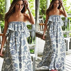 Don't miss to have this sexy off shoulder sun dress on your summer wardrobe!