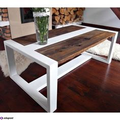 Modern steel & oak coffee table in Home, Furniture & DIY, Furniture, Tables | eBay