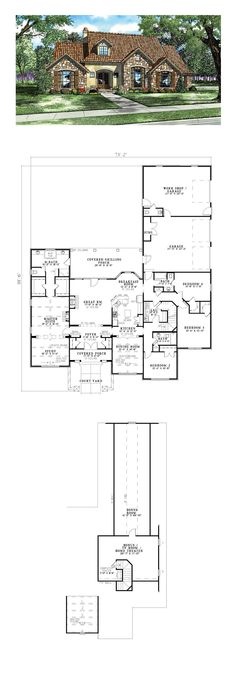 53 best tuscan house plans images in 2019 house floor plans rh pinterest com