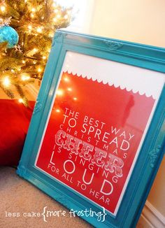 31 free Christmas printables, keep them in the frames behind my year round prints, change them for the season!