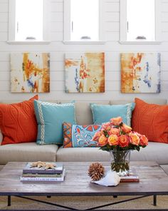 Decorating with Complementary Colors   Centsational Girl