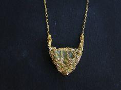 petite raw apatite gemstone & sparkly gold filled necklace, ooak handmde jewelry via Etsy Modern Jewelry, Jewelry Art, Unique Jewelry, Jewelery, Handmade Jewelry, Jewelry Making, Bling, Gemstones, Gold