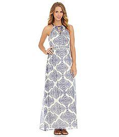 Vince Camuto Paisley EmpireWaist Maxi Dress #Dillards