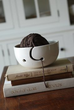 handmade modern - vintage yarn bowl. $31.00, via Etsy.