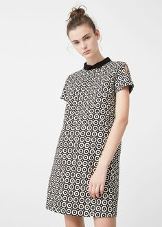 Babydoll printed dress -  Women   MANGO USA