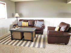 ... Living Room Wall Color · Rug On Carpet Board Batten Leather Furniture  ... Part 34