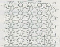 TODO ARTESANAL: NUEVAS CREACIONES EN CROCHET Crochet Shawl Diagram, Granny Square Crochet Pattern, Crochet Stitches Patterns, Crochet Chart, Crochet Squares, Crochet Motif, Crochet Lace, Crochet Hooks, Stitch Patterns