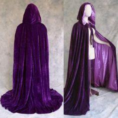 Amazon.com: Lined Purple Velvet Cloak - Medieval Renaissance Victorian Costume Mardi Gras by Artemisia Designs: Clothing
