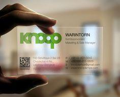 Transparent business card design for Knoop | WEB DESIGN | GRAPHIC DESIGN | PRINT | LOGO | FLASH | MULTIMEDIA