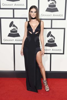 Alessandra Ambrosi attend The 58th GRAMMY Awards at Staples Center on February 15, 2016 in Los Angeles, California.