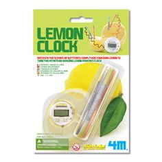 Power a clock with a lemon!- $4.59