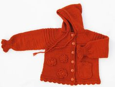 Cardigan with flowers  for girl 2year  MADE TO by iziknittings, $47.00