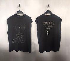 Skinny Puppy shirt 90s industrial goth vintage punk shirt rocker tee distressed tshirt 1992 tour concert tee band tshirts faded black large