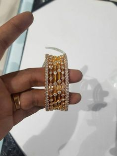 #jewelrysimplefun Plain Gold Bangles, Gold Bangles Design, Gold Earrings Designs, Gold Designs, Designer Bangles, Sterling Silver Bracelets, Bangle Bracelets, Jewelry Necklaces, Jewelery