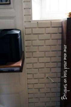 Des briques en bois pour le mur. – Pour votre Quotidien