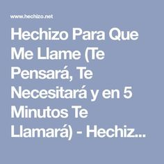 Hechizo Para Que Me Llame (Te Pensará, Te Necesitará y en 5 Minutos Te Llamará) - Hechizo.net - Hechizos Fáciles y Efectivos