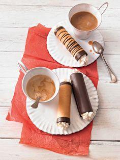 Schlotfeger - Kunspriges Hippengebäck mit Schokolade und Sahnefüllung.