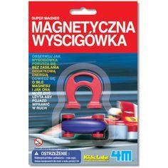 DETALE PRODUKTU4M - Gadżet naukowy - Magnetyczna wyścigówka. Przy pomocy tego gadżetu naukowego dziecko pozna zasadę działania magnesu, który wprawia wyścigówkę w ruch. Wystarczy umieścić wyścigówkę na płaskiej powierzchni i oddziaływać na nią magnesem. Pojazd będzie się samodzielnie poruszał bez użycia jakiejkolwiek dodatkowej energii. Wystarczy siła magnesu.Szczegółowa instrukcja zabawy dostępna jest na odwrocie opakowania Magnetycznej wyścigówki. Zabawkę 4M - Gadżet naukowy - Magnetyczna…
