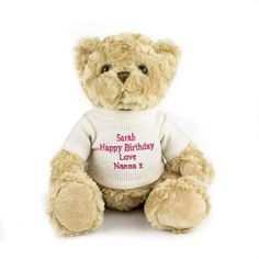 Make personalized teddy bear as a gift for your friend.