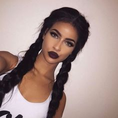 Silk Black Two Braided Style Wigs Price: 34.95 & FREE Shipping #divine6