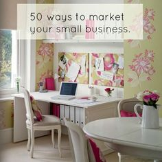 50 ways to market your small business. #smallbusinessmarketing