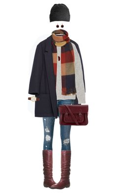 """""""Fall Burgundy Accents"""" by ittie-kittie on Polyvore featuring Zara, Frame Denim, Office, TIBI, The Cambridge Satchel Company, Kate Spade, Kenneth Jay Lane, Pomellato, Wood Wood and Fall"""