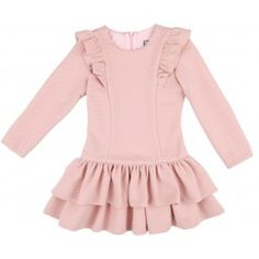 Outfit Niña Vestido Volantes Rosa Empolvado | Missbaby Girls Dresses Sewing, Baby Girl Dresses, Baby Dress, Baby Boy Fashion, Kids Fashion, Casual Outfits, Girl Outfits, Baby Couture, Kawaii Clothes
