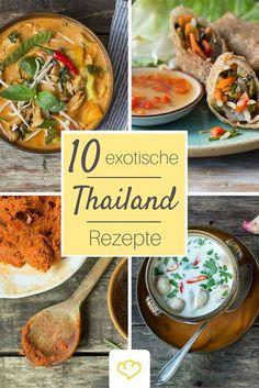 Lust auf eine kulinarische Reise nach Thailand? Von Pad Thai bis Tom Kha Gai - kein Klassiker der Thai-Küche fehlt. Ob Curry, Frühlingsrollen oder gebratene Nudeln - hier gibt es 10 thailändische Rezepte, die nach Urlaub schmecken!
