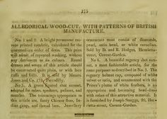 """""""Patterns of British Manufacture."""" March 1811."""