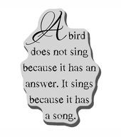Stampendous Cling Rubber Stamp-A Bird Sings