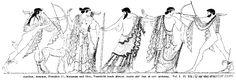 RII.1-0102.jpg - RII.1-0102: Apollo, Artemis, Poseidon, Marpessa, and Idas. Wilhelm Heinrich Roscher (Göttingen, 1845- Dresden, 1923), Ausfürliches Lexikon der griechisches und römisches Mythologie, 1884.