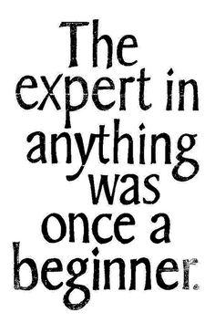 Just start...