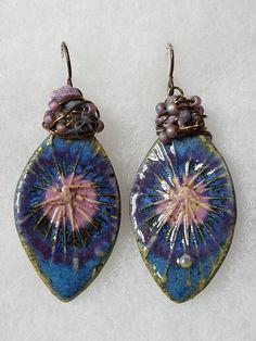 Stoneware Earrings by Kathleen Sirois