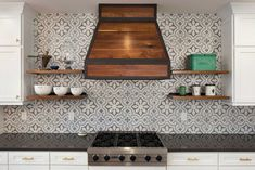 The best part of a kitchen remodel? Picking the backsplash. Here are the top kitchen backsplash trends according to interior designers and industry experts. Moroccan Tile Backsplash, Cement Tile Backsplash, Cement Tiles, Kitchen Backsplash Design, Moroccan Kitchen Tiles, Patterned Kitchen Tiles, Backsplash Ideas, Tile Ideas, Rustic Kitchen Design