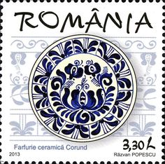 Stamp: Plate from Harghita region (Romania) (Traditional Corund Ceramics) Mi:RO 6766 Postage Stamp Art, Romania, Culture, Plates, Fine Art, Traditional, Visual Arts, Folklore, Restaurant