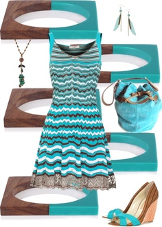 """""""Brown & Turquoise"""" by musicfriend1 ❤ liked on Polyvore"""