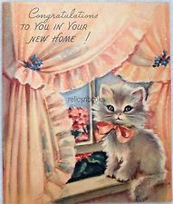"""Thank You for your Hospitality"" vintage kitten greeting card Vintage Birthday Cards, Vintage Greeting Cards, Vintage Valentines, Vintage Ephemera, Vintage Holiday, Vintage Postcards, Vintage Pictures, Vintage Images, Happy Birthday 1"