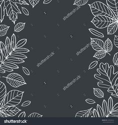leaves autumn chalkboard draw - Cerca con Google