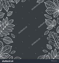 leaves autumn chalkboard draw - Cerca con Google