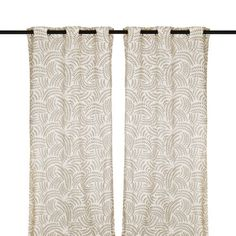 Taupe Madeline Curtain Panel Set, 108 in. | Kirklands