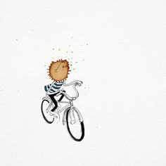 A Drop Of Happiness!  I am a Berlin based illustrator and stroyteller, I love drawing bicycles and I love coffee. It has become a challenge of sorts to put random coffee stains on paper and look for bicycle stories in them by adding ink and watercolours. It's a lot of fun to do this. There are times when I surprise myself with some of these illustrations. Hope you have fun looking at them and hopefully trying some of your own.