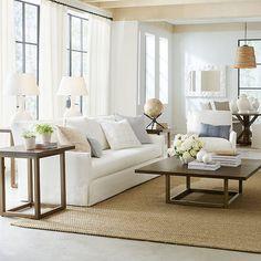 Suzanne Kasler Gourd Lamp Linen Lamp Shades, Gourd Lamp, Modern Side Table, Drapery Panels, Ballard Designs, Family Room, Furniture, Living Rooms, Home Decor